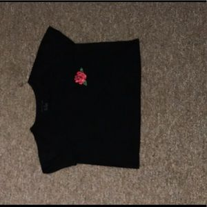 Black Rose Crop Top #5
